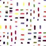 Seamless pattern background - watercolor hand drawn brushstrokes on the white background. stock illustration