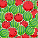 Seamless Pattern Background from Watermelon Stock Image