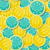 Seamless Pattern Background from Watermelon. Vector Illustration. EPS10 stock illustration