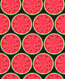 Seamless Pattern Background from Watermelon. Vector Illustration Stock Image