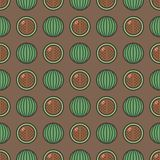 Seamless pattern background with watermelons, colorful illustration vector illustration