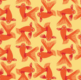 Seamless pattern background whith goldfish Royalty Free Stock Photos