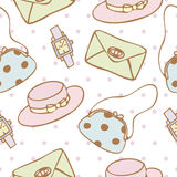 Seamless pattern background of woman accessories Stock Illustration