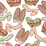 Seamless pattern background of woman shoes Royalty Free Stock Photography