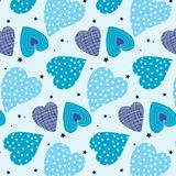 Seamless pattern, backgrounds, valentine day heart. Valentine background vector abstracts Colorful hearts are seamless patterns Royalty Free Stock Image