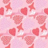 Seamless Pattern, backgrounds, Valentine Day heart. Valentine background vector abstracts Colorful hearts are seamless patterns Stock Photo
