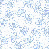 Seamless pattern backgrouns atom. Chemictry vector. Science wallpaper.   Stock Photo