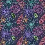 Seamless pattern with bacteria Stock Photography