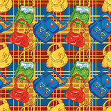 Seamless pattern-bags Royalty Free Stock Photos