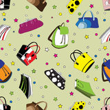 Seamless pattern with bags. Seamless pattern with bright fashion bags Stock Photography