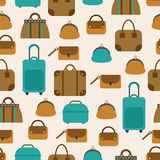 Seamless pattern of bags, luggage, baggage. For textiles, interior design, for book design, website background Stock Image