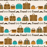 Seamless pattern of bags, luggage, baggage Stock Images