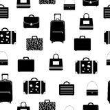 Seamless pattern with bags and suitcases Stock Image
