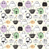 Seamless pattern with bags Royalty Free Stock Photos