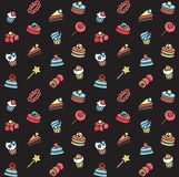 Seamless pattern of bakery and cake icons. Candy, sweet set Stock Photo