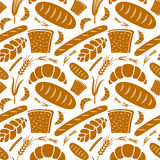Seamless pattern bakery Royalty Free Stock Photos