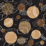 Seamless pattern with bakery products Royalty Free Stock Image