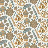 Seamless pattern for bakery theme   Stock Images
