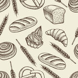 Seamless pattern with baking elements. Stock Images
