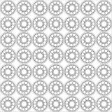 Seamless pattern of Ball bearing. Design element of a mechanical bearing. Vector line icon template.You can use in energy, power, machine, transportation Royalty Free Stock Photo