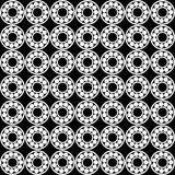 Seamless pattern of Ball bearing. Design element of a mechanical bearing. Vector line icon template.You can use in energy, power, machine, transportation Royalty Free Stock Images