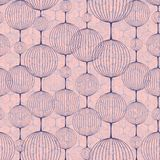 Seamless pattern of ball chains.  Rose Quartz and Serenity color. Stock Photography