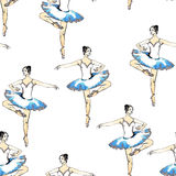 Seamless pattern ballerinas Royalty Free Stock Images