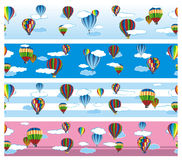 Seamless pattern balloons Royalty Free Stock Images