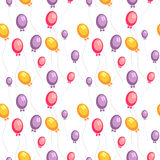 Seamless pattern with balloons Stock Photos