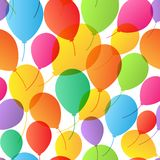 Seamless Pattern. Balloons background. Stock Photo