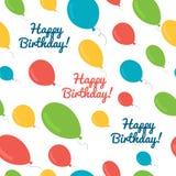 Seamless pattern balloons birthday. Stock Photo