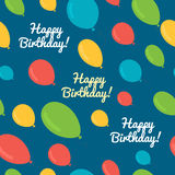 Seamless pattern balloons birthday. Stock Images