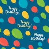 Seamless pattern balloons birthday. Vector seamless pattern balloons birthday Stock Images