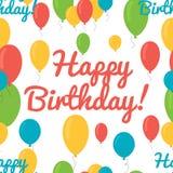 Seamless pattern balloons birthday. Stock Photos