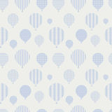 Seamless pattern with balloons. Royalty Free Stock Photos