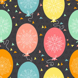 Seamless pattern with balloons. Seamless pattern of colorful balloons for Holiday celebration. Vector illustration Stock Photo