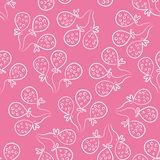 Seamless pattern with balloons. Cute doodle style Royalty Free Stock Photos