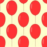 Seamless pattern with balloons. Endless festive print for children. Vector illustration Stock Images