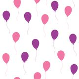 Seamless pattern with balloons Stock Images