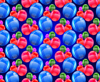 Seamless pattern from balloons. Pattern for gift wrapping Vector Illustration Stock Photo