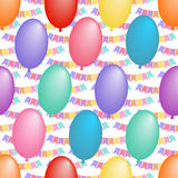 Seamless pattern with balloons Royalty Free Stock Image