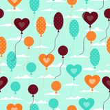 Seamless pattern with balloons in retro style.  Royalty Free Stock Image