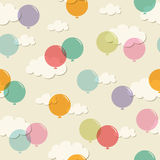 Seamless pattern with balloons Royalty Free Stock Photography
