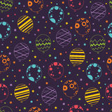 Seamless pattern with balloons Stock Photo
