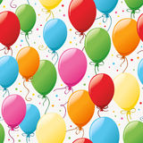 Seamless pattern with balloons Stock Image