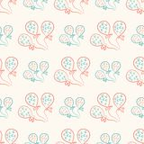 Seamless pattern with balloons. Vintage doodle. Style Stock Photo