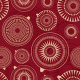 Seamless pattern with balls Royalty Free Stock Images