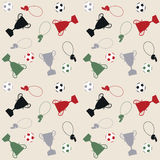 Seamless pattern with balls and cups Stock Photo