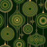 Seamless pattern with balls and stars Stock Photos