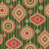 Seamless pattern with balls and stars Royalty Free Stock Photos